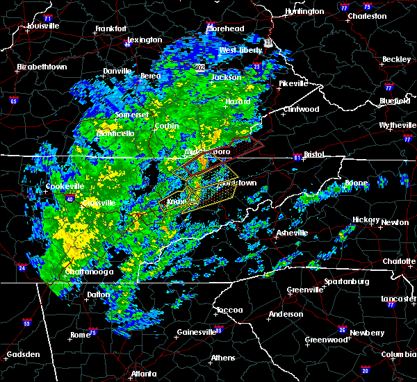 Radar Image for Severe Thunderstorms near New Market, TN at 10/31/2019 11:53 AM EDT