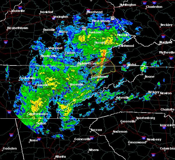 Radar Image for Severe Thunderstorms near Greeneville, TN at 10/31/2019 12:30 PM EDT