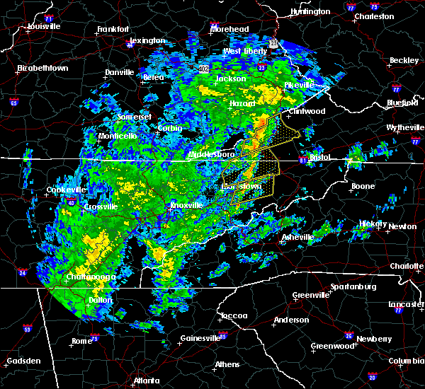 Radar Image for Severe Thunderstorms near Kingsport, TN at 10/31/2019 12:40 PM EDT