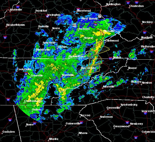 Radar Image for Severe Thunderstorms near Greeneville, TN at 10/31/2019 12:46 PM EDT