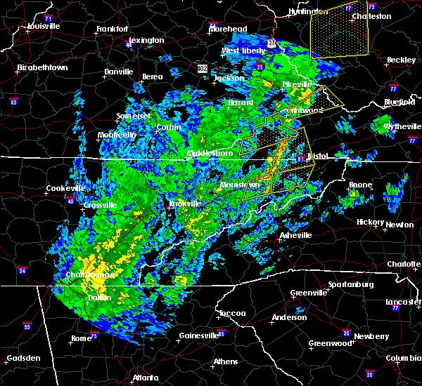 Radar Image for Severe Thunderstorms near Greeneville, TN at 10/31/2019 1:13 PM EDT