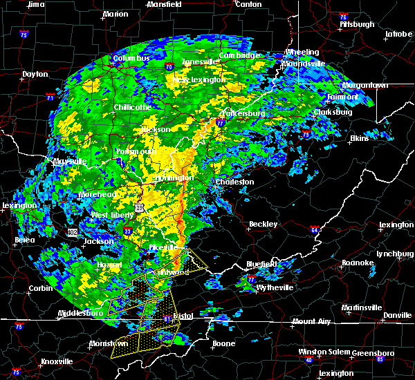 Radar Image for Severe Thunderstorms near East Bank, WV at 10/31/2019 1:13 PM EDT