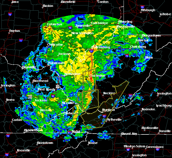 Radar Image for Severe Thunderstorms near East Bank, WV at 10/31/2019 1:44 PM EDT