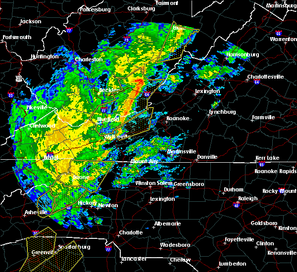 Radar Image for Severe Thunderstorms near Hiwassee, VA at 10/31/2019 3:53 PM EDT