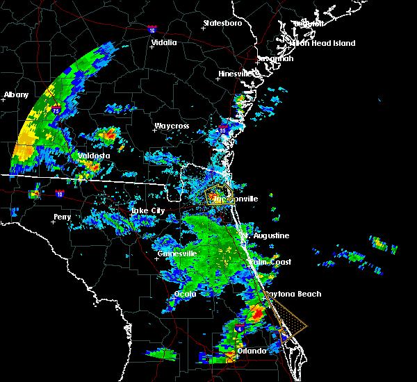 Radar Image for Severe Thunderstorms near Jacksonville, FL at 6/23/2015 6:46 PM EDT