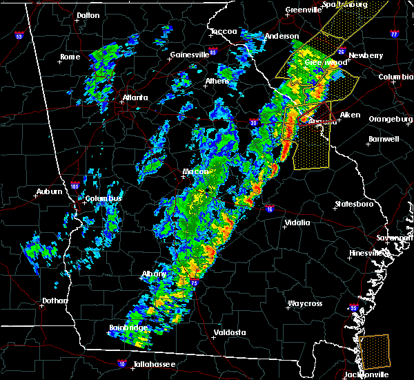 Radar Image for Severe Thunderstorms near Waynesboro, GA at 10/31/2019 4:46 PM EDT