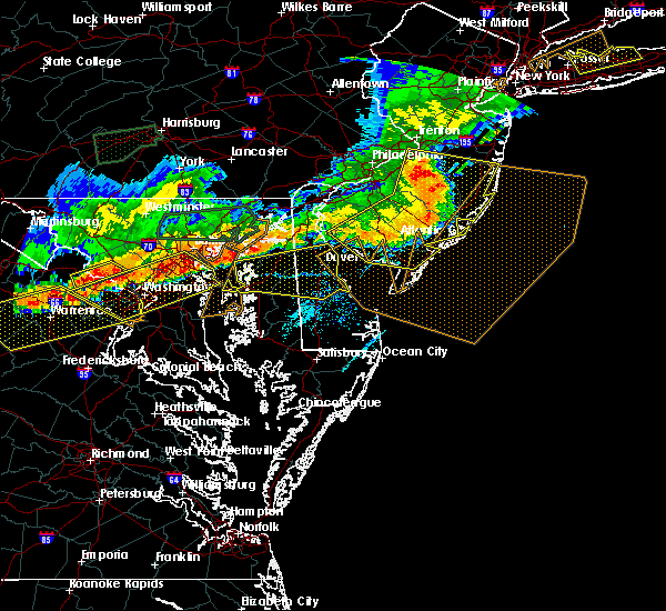 Radar Image for Severe Thunderstorms near Milford, DE at 6/23/2015 6:49 PM EDT