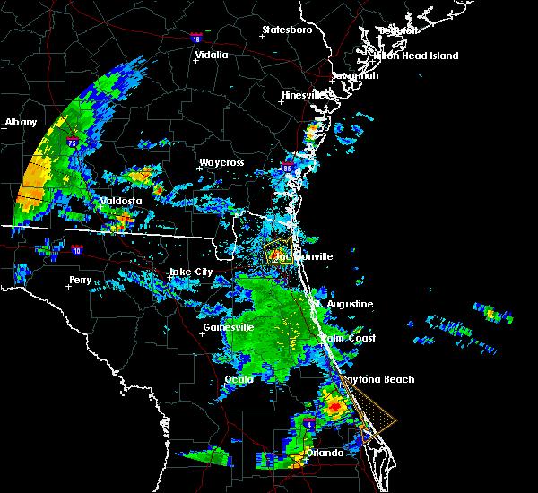 Radar Image for Severe Thunderstorms near Jacksonville, FL at 6/23/2015 6:58 PM EDT