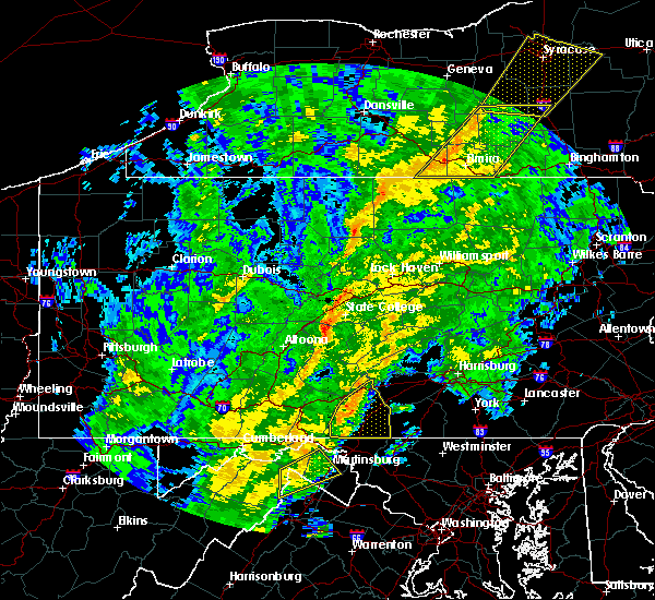 Radar Image for Severe Thunderstorms near Waynesboro, PA at 10/31/2019 6:17 PM EDT
