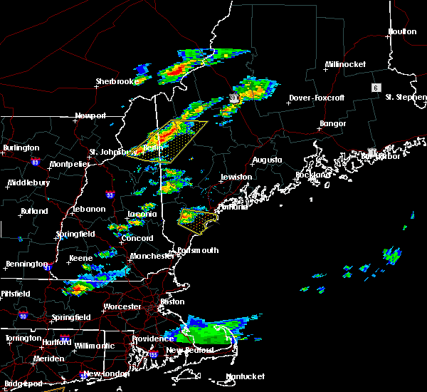 Radar Image for Severe Thunderstorms near Berlin, NH at 6/23/2015 7:02 PM EDT