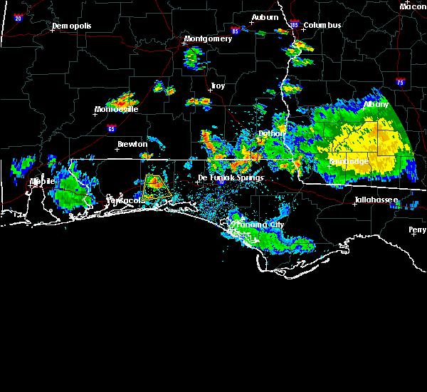 Radar Image for Severe Thunderstorms near Crestview, FL at 6/23/2015 6:05 PM CDT