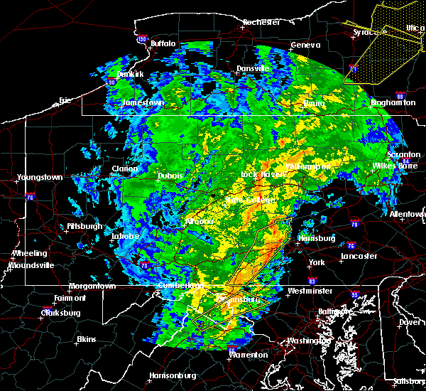Radar Image for Severe Thunderstorms near Flemington, PA at 10/31/2019 7:09 PM EDT