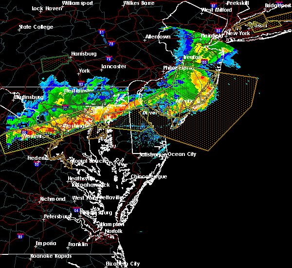 Radar Image for Severe Thunderstorms near Stevensville, MD at 6/23/2015 7:09 PM EDT