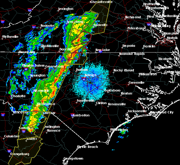 Radar Image for Severe Thunderstorms near Pinehurst, NC at 10/31/2019 7:42 PM EDT