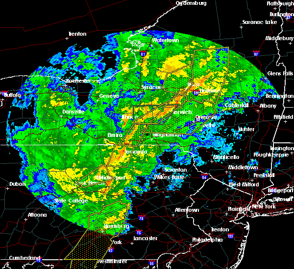 Radar Image for Severe Thunderstorms near Sayre, PA at 10/31/2019 7:54 PM EDT