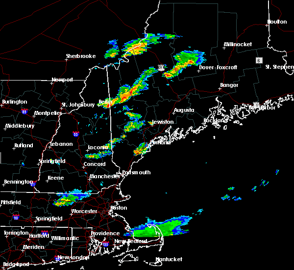 Radar Image for Severe Thunderstorms near Berlin, NH at 6/23/2015 7:24 PM EDT