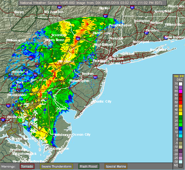 Radar Image for Severe Thunderstorms near Halfway House, PA at 10/31/2019 11:04 PM EDT