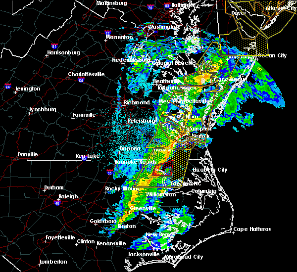 Radar Image for Severe Thunderstorms near Virginia Beach, VA at 11/1/2019 12:34 AM EDT