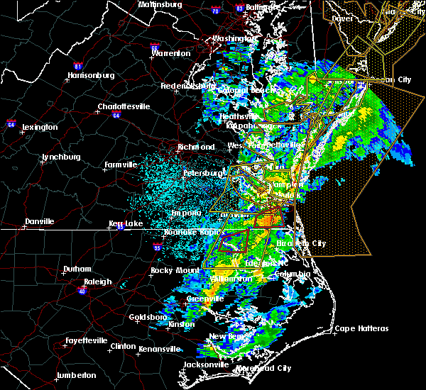 Radar Image for Severe Thunderstorms near Belle Haven, VA at 11/1/2019 1:03 AM EDT