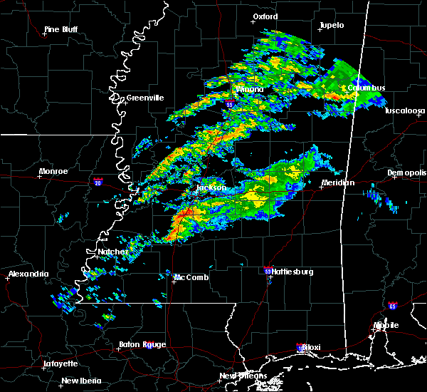 Radar Image for Severe Thunderstorms near Crystal Springs, MS at 11/26/2019 11:35 PM CST