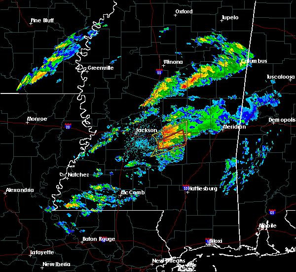 Radar Image for Severe Thunderstorms near Polkville, MS at 11/27/2019 12:33 AM CST