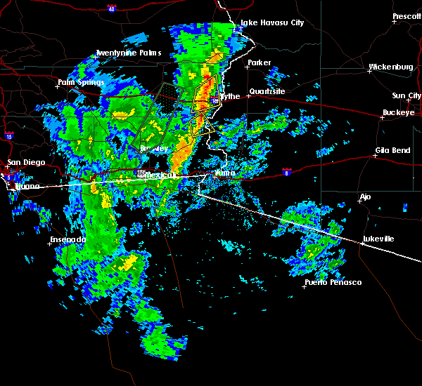 Radar Image for Severe Thunderstorms near Bouse, AZ at 11/28/2019 6:19 PM MST