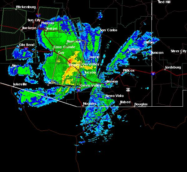 Radar Image for Severe Thunderstorms near Marana, AZ at 11/29/2019 6:40 AM MST