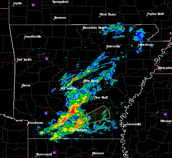 Radar Image for Severe Thunderstorms near Monticello, AR at 11/30/2019 12:24 PM CST