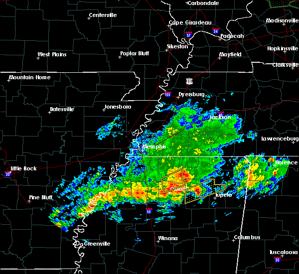 Radar Image for Severe Thunderstorms near Potts Camp, MS at 11/30/2019 2:54 PM CST