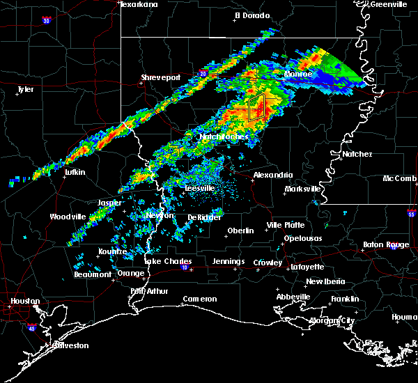 Radar Image for Severe Thunderstorms near Banks Springs, LA at 11/30/2019 4:00 PM CST