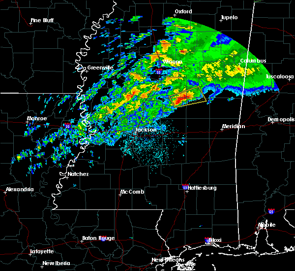 Radar Image for Severe Thunderstorms near Noxapater, MS at 11/30/2019 7:32 PM CST