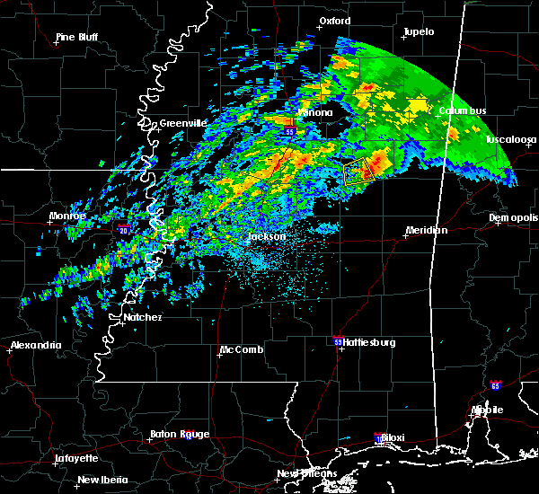 Radar Image for Severe Thunderstorms near Noxapater, MS at 11/30/2019 7:56 PM CST