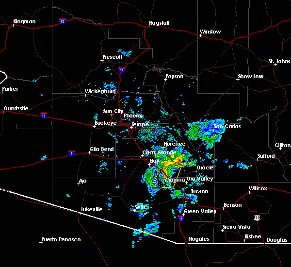 Radar Image for Severe Thunderstorms near Marana, AZ at 12/9/2019 10:00 AM MST