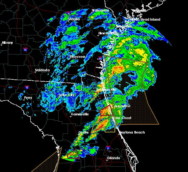 Radar Image for Severe Thunderstorms near St. Augustine, FL at 12/14/2019 5:02 AM EST