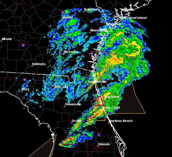 Radar Image for Severe Thunderstorms near St. Augustine, FL at 12/14/2019 5:17 AM EST