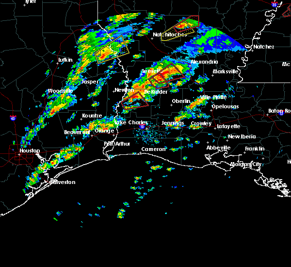 Radar Image for Severe Thunderstorms near DeRidder, LA at 12/16/2019 12:00 PM CST