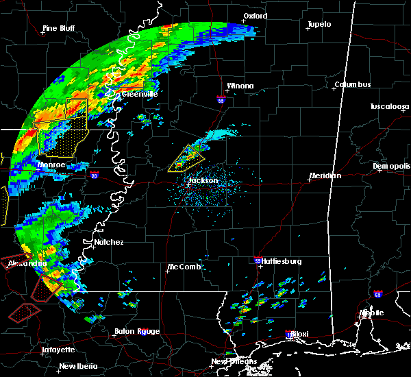 Radar Image for Severe Thunderstorms near Metcalfe, MS at 12/16/2019 1:05 PM CST