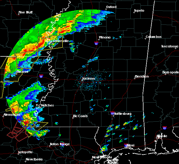 Radar Image for Severe Thunderstorms near Metcalfe, MS at 12/16/2019 1:34 PM CST