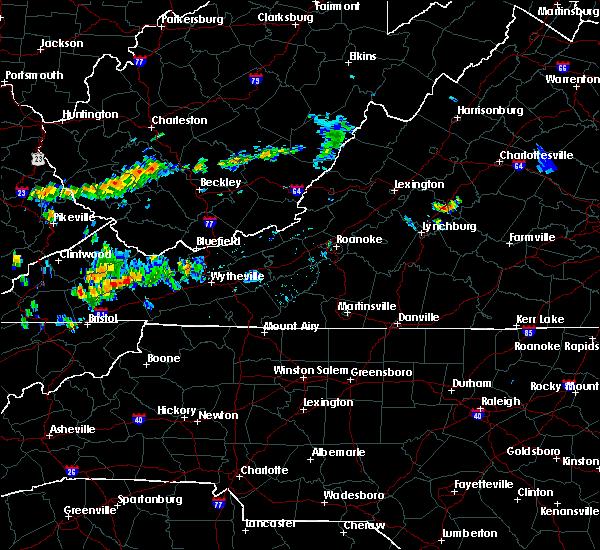 Radar Image for Severe Thunderstorms near Abingdon, VA at 6/23/2015 8:55 PM EDT