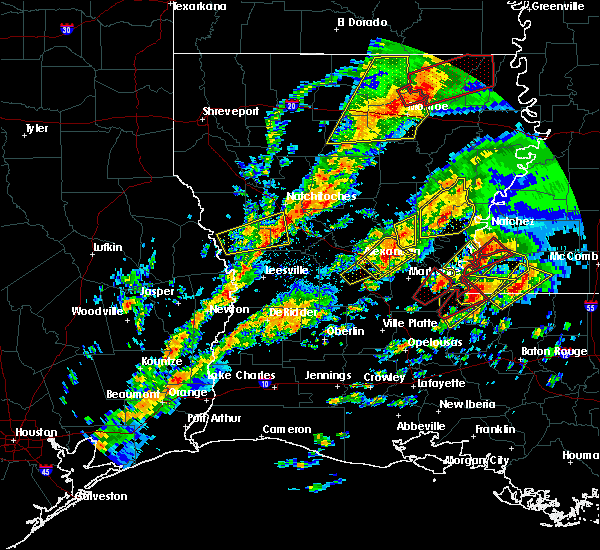 Radar Image for Severe Thunderstorms near Sicily Island, LA at 12/16/2019 2:04 PM CST