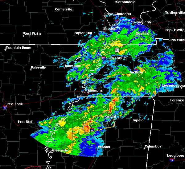 Radar Image for Severe Thunderstorms near Batesville, MS at 12/16/2019 2:22 PM CST