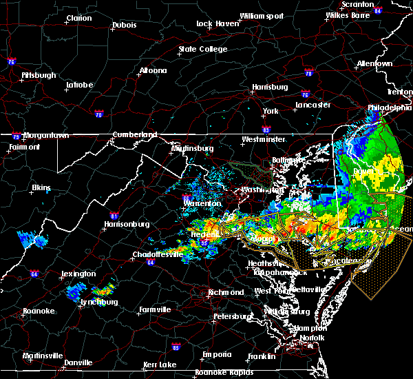 Radar Image for Severe Thunderstorms near St. Leonard, MD at 6/23/2015 9:06 PM EDT