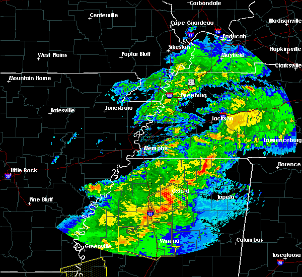 Radar Image for Severe Thunderstorms near Water Valley, MS at 12/16/2019 2:54 PM CST