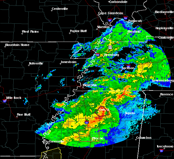 Radar Image for Severe Thunderstorms near Oxford, MS at 12/16/2019 3:04 PM CST