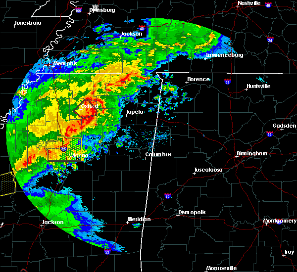 Radar Image for Severe Thunderstorms near Thaxton, MS at 12/16/2019 3:15 PM CST