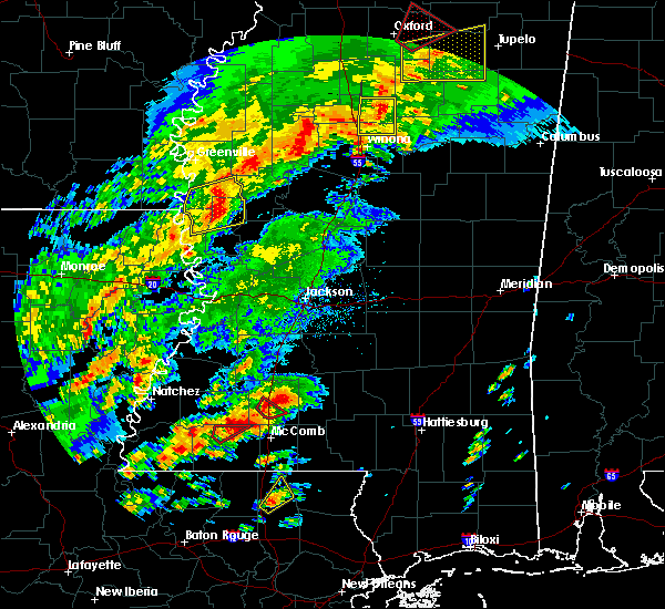 Radar Image for Severe Thunderstorms near New Hebron, MS at 12/16/2019 3:30 PM CST