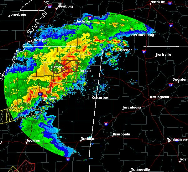 Radar Image for Severe Thunderstorms near Ecru, MS at 12/16/2019 3:32 PM CST