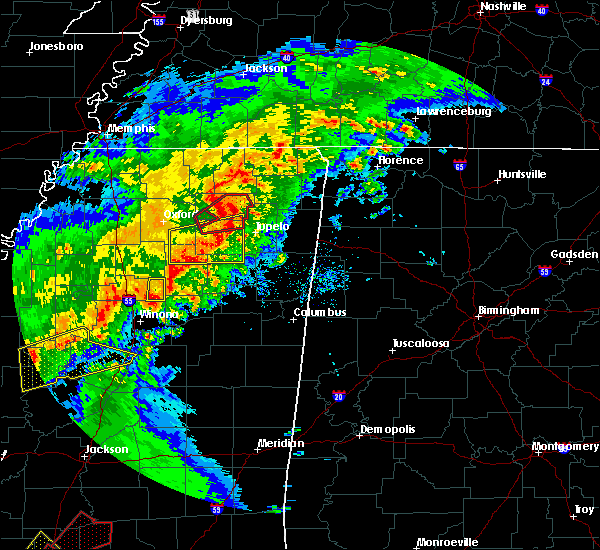 Radar Image for Severe Thunderstorms near Thaxton, MS at 12/16/2019 3:38 PM CST