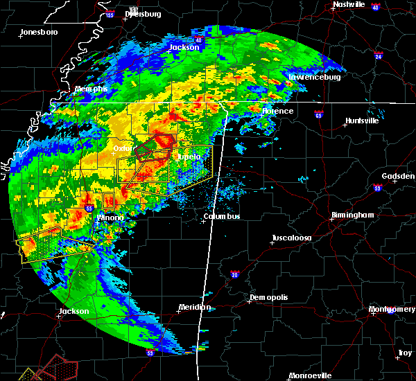 Radar Image for Severe Thunderstorms near New Albany, MS at 12/16/2019 3:46 PM CST