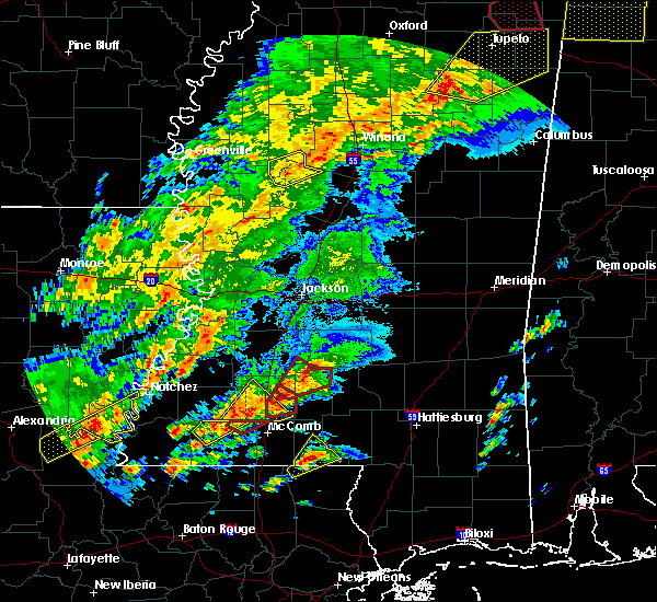 Radar Image for Severe Thunderstorms near New Hebron, MS at 12/16/2019 4:16 PM CST